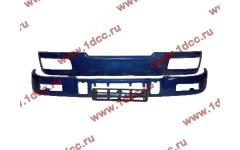 Бампер C синий верхний+нижний (в сборе) фото Омск