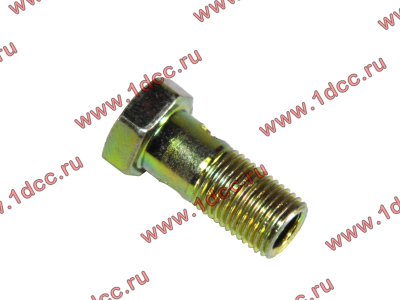 Болт пустотелый М10х1,0 (штуцер топливный) H HOWO (ХОВО) 81500070054